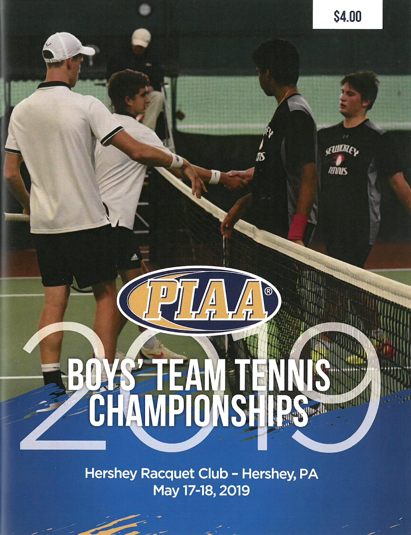 2018 Boys' Team Tennis Championship Program